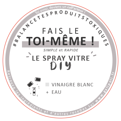 Stickers spray vitre